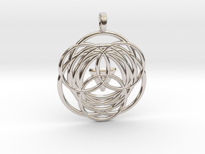 MYSTICAL LOTUS in Rhodium Plated Brass
