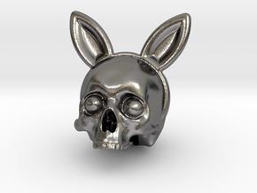 Bunnyears Skull - Halloween in Polished Nickel Steel