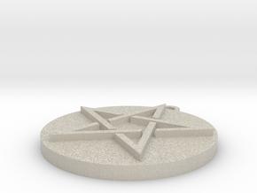 Pentagram Pendant in Natural Sandstone