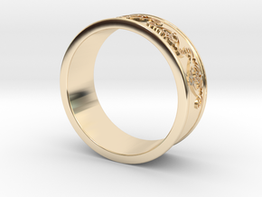 Decorative Ring 2 in 14k Gold Plated Brass