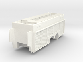 1/64 HAZMAT Rear for MAck MR Cab in White Strong & Flexible Polished
