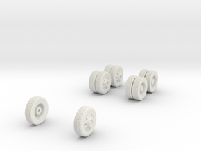 1/64 Wheels for Mack MR HAZMAT in White Natural Versatile Plastic