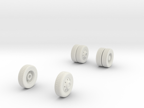 1/64 Wheels for FDNY Pumper in White Natural Versatile Plastic