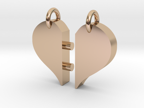 Heart Pendants-redesign in 14k Rose Gold Plated Brass