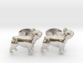 French Bulldog Cufflinks. in Platinum