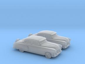 1/120 2X 1951 Pontiac Chieftan Sedan in Smooth Fine Detail Plastic