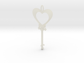 Magic Valentine's Heart Key (10% off until Feb14) in Transparent Acrylic