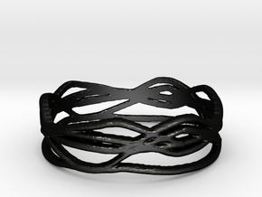 Ring Design 01 Ring Size 8 in Matte Black Steel