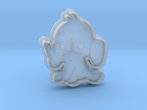 Cookie Cutter - Animal - Elephant in Smooth Fine Detail Plastic