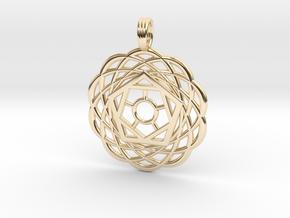 FIBONACCI FLOWER in 14k Gold Plated Brass