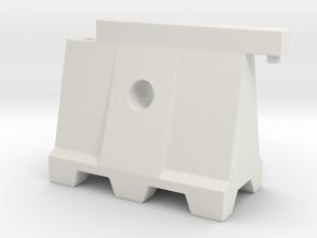 Barricade 02. 1:24 Scale  in White Natural Versatile Plastic