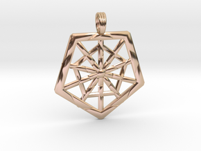 PROTECTION GRID in 14k Rose Gold Plated Brass