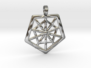 PROTECTION GRID in Fine Detail Polished Silver