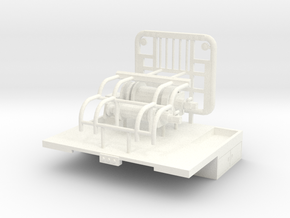 1/50th Winch Truck Short Bed, 10 foot wide in White Processed Versatile Plastic