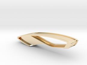 Trapezio Keychain in 14k Gold Plated Brass