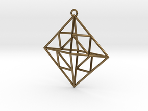 OCTAHEDRON Earring / Pendant Nº2 in Polished Bronze