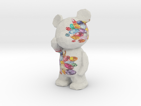 Thinking Teddy Bear - gem in Full Color Sandstone