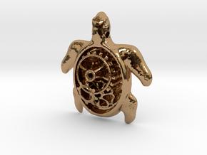 MECHA MOMO pendant  in Polished Brass
