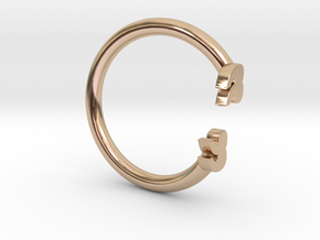 Punctuation Series: Quotation Ring (size 5.5) in 14k Rose Gold
