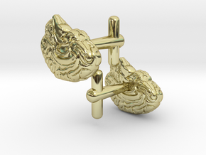Anatomical Brain Cufflinks in 18k Gold