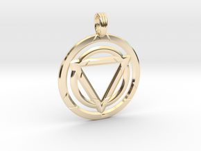 TRINITY LOCK in 14k Gold Plated Brass
