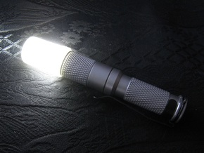 14mm Flashlight Diffuser (Flat Top) in Transparent Acrylic