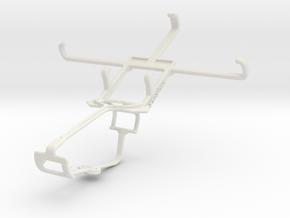 Controller mount for Xbox One & Karbonn Sparkle V in White Natural Versatile Plastic