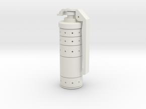 Dredd 3d Gas Grenade Fixed in White Natural Versatile Plastic