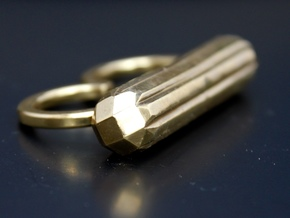 ALLURE double finger ring in Polished Brass