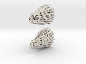 Diffusion Earrings in Rhodium Plated Brass