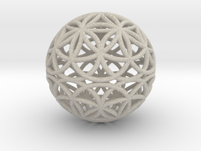 Special Edition 100mm Thick Flower Of Life in Natural Sandstone