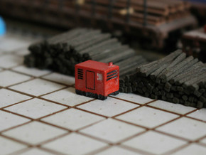 N Scale Mobile Diesel Generator in Frosted Ultra Detail