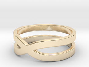 "Ring ""Across"" Size 9 (18,9mm) in 14k Gold Plated Brass"