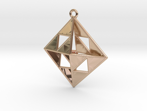 OCTAHEDRON Earring / Pendant Nº1 in 14k Rose Gold Plated Brass