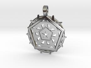 SIX PENTAGRAMS in Premium Silver