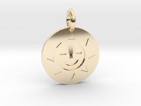 Golden Sun Charm DuckTales in 14k Gold Plated