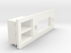A1200 Rear Expansion DVI USB collar  in White Processed Versatile Plastic