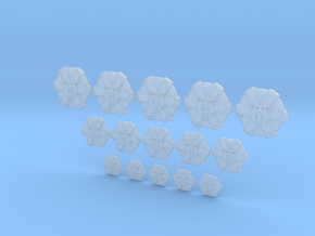6 Legged Bear - 15, 10mm, 15mm 20mm Icons in Smooth Fine Detail Plastic