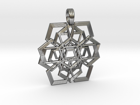 PENTAGRAM RIPPLES in Premium Silver