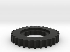 Crank Pulley 2.0 in Black Natural Versatile Plastic