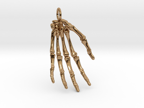 Hand bones with loop in Polished Brass