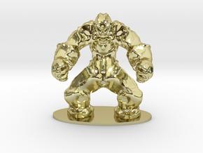 Rock Golem Earth Elemental Miniature in 18K Gold Plated