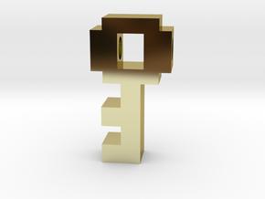 8 Bit Key in 18k Gold