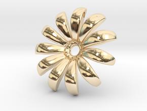 Daisy Pendant Shapeways in 14K Yellow Gold