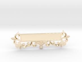 Custom Masonic Jewel Name Plate in 14k Gold Plated Brass