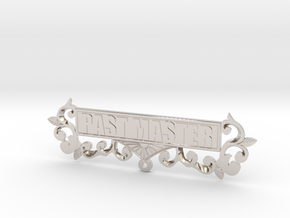 Past Master Jewel Name Plate in Rhodium Plated Brass
