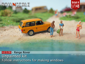 Range Rover (British N 1:148) in Smooth Fine Detail Plastic