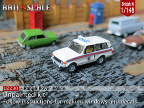 Range Rover Police (British N 1:148) in Smooth Fine Detail Plastic