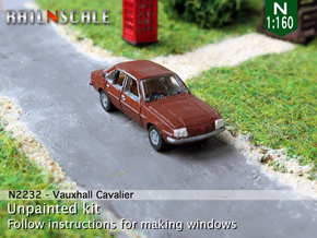 Vauxhall Cavalier Mk1 (N 1:160) in Frosted Ultra Detail