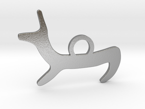 Canis simplex_Spike in Natural Silver